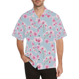 Orchid Pink Pattern Print Design OR01 Hawaiian Shirt-kunshirts.com