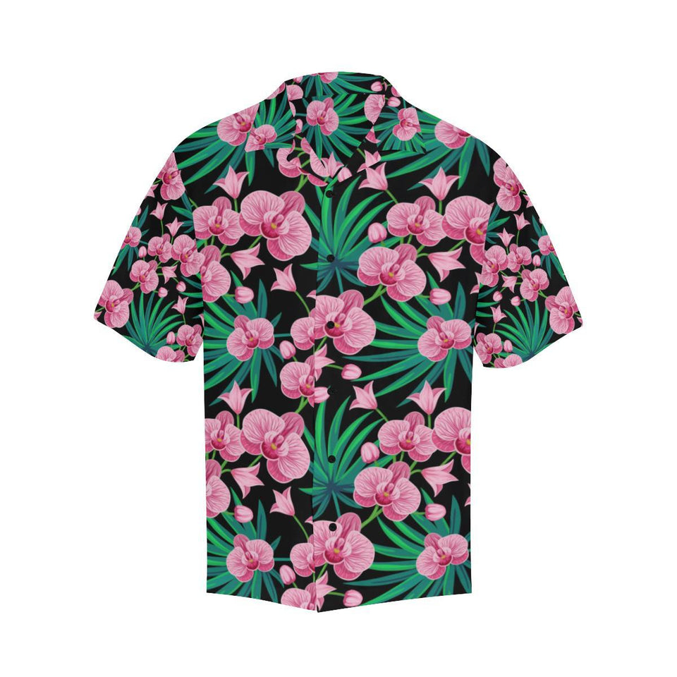 Orchid Pink Pattern Print Design OR06 Hawaiian Shirt-kunshirts.com