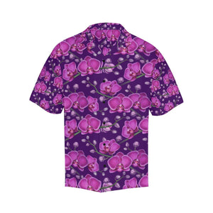 Orchid Purple Pattern Print Design OR02 Hawaiian Shirt-kunshirts.com