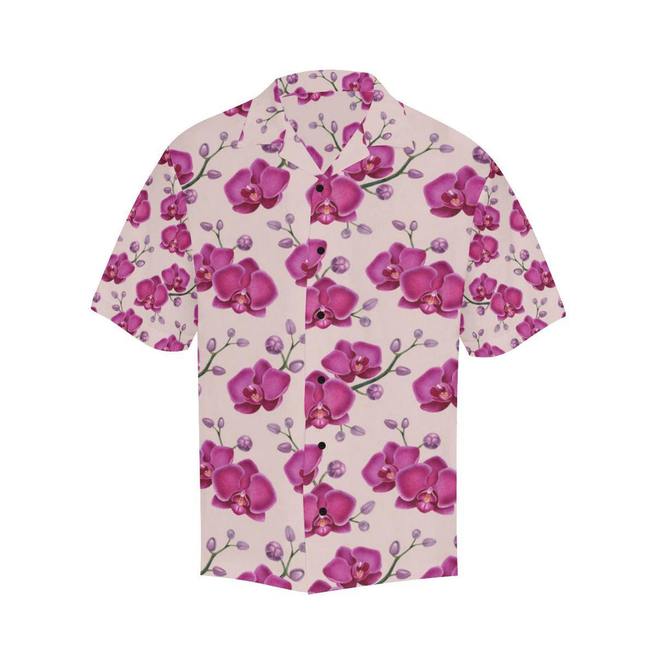 Orchid Purple Pattern Print Design OR04 Hawaiian Shirt-kunshirts.com