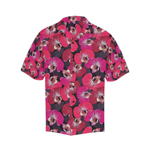 Orchid Red Pattern Print Design OR05 Hawaiian Shirt-kunshirts.com