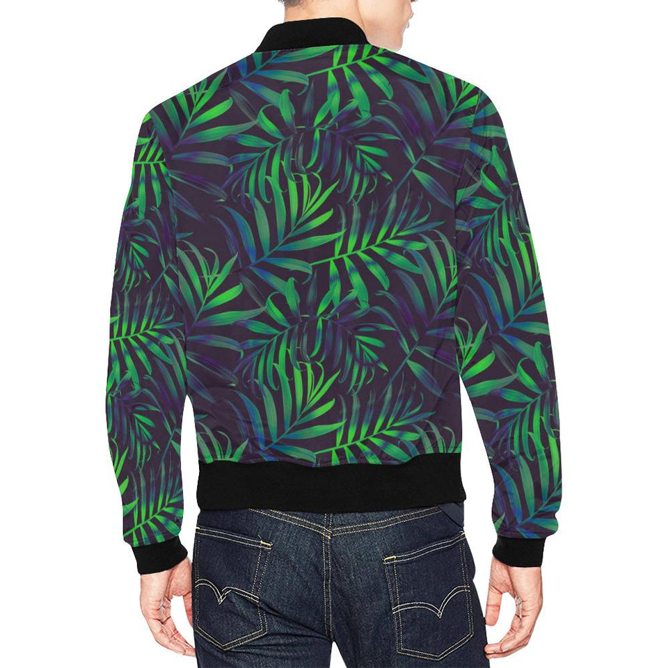 Palm Leaves Pattern Print Design PL01 Men Bomber Jacket-kunshirts.com