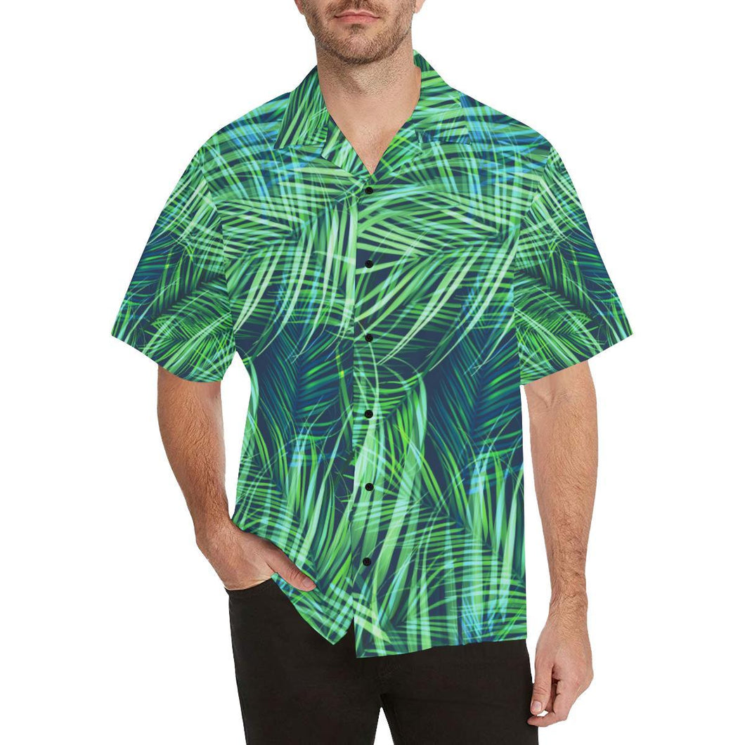 Palm Leaves Pattern Print Design PL02 Hawaiian Shirt-kunshirts.com