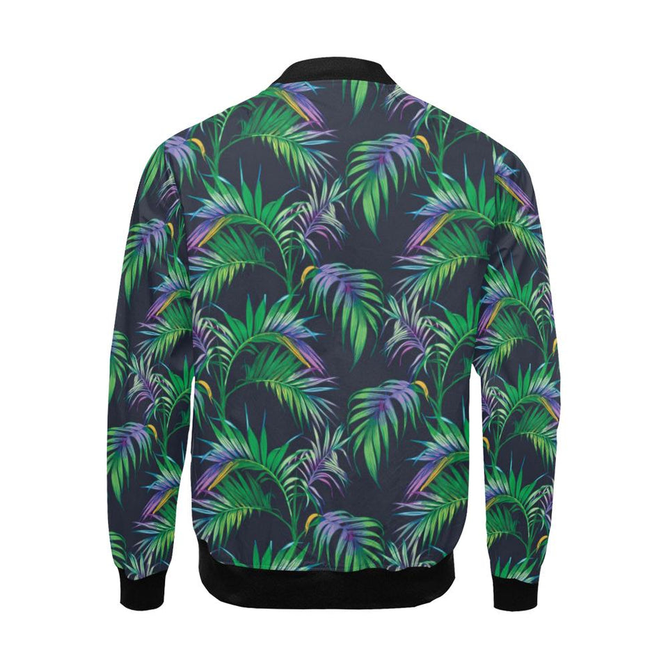 Palm Leaves Pattern Print Design PL04 Men Bomber Jacket-kunshirts.com