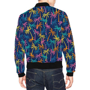 Palm Tree Pattern Print Design PT013 Men Bomber Jacket-kunshirts.com