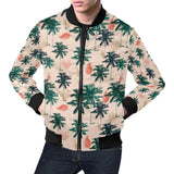 Palm Tree Pattern Print Design PT014 Men Bomber Jacket-kunshirts.com