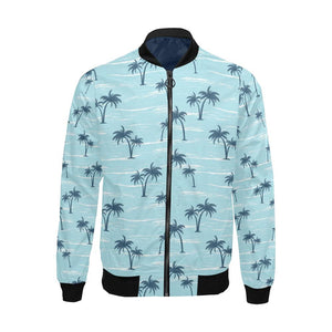 Palm Tree Pattern Print Design PT04 Men Bomber Jacket-kunshirts.com