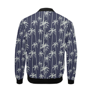 Palm Tree Pattern Print Design PT06 Men Bomber Jacket-kunshirts.com