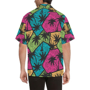Palm Tree Pattern Print Design PT09 Hawaiian Shirt-kunshirts.com