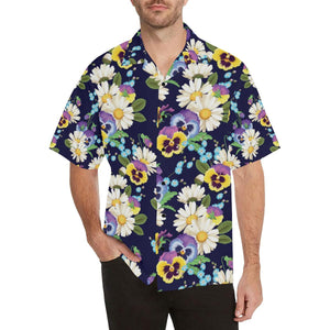 Pansy Pattern Print Design PS03 Hawaiian Shirt-kunshirts.com