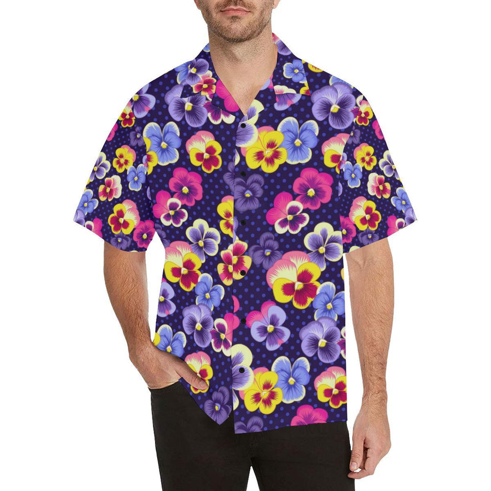Pansy Pattern Print Design PS04 Hawaiian Shirt-kunshirts.com
