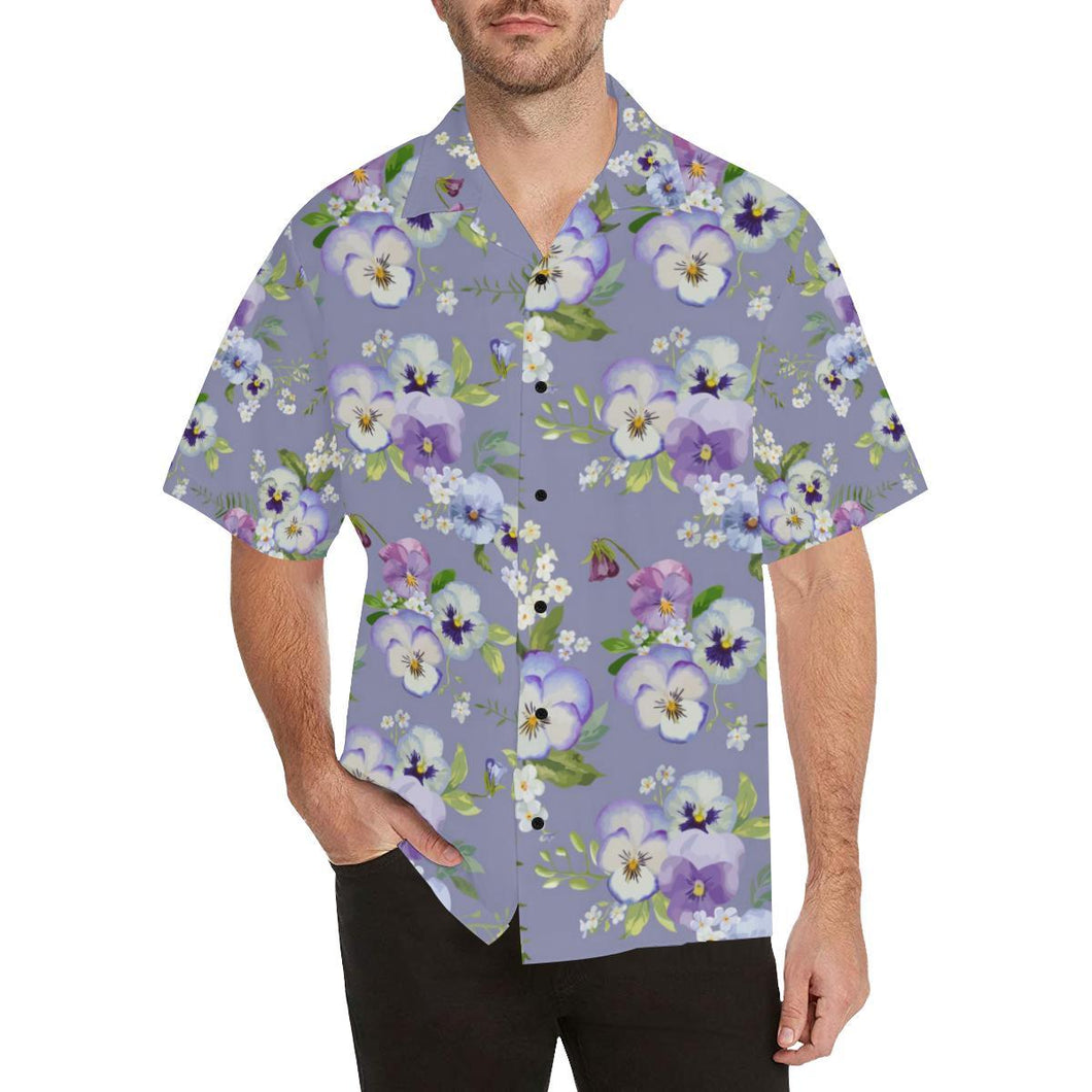 Pansy Pattern Print Design PS05 Hawaiian Shirt-kunshirts.com