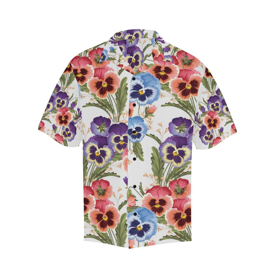 Pansy Pattern Print Design PS06 Hawaiian Shirt-kunshirts.com