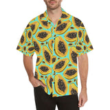 Papaya Pattern Print Design PP03 Hawaiian Shirt-kunshirts.com