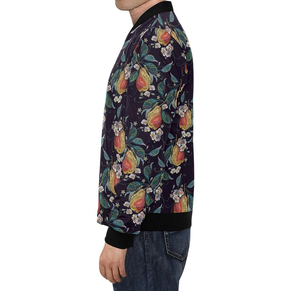 Pear Pattern Print Design PE02 Men Bomber Jacket-kunshirts.com
