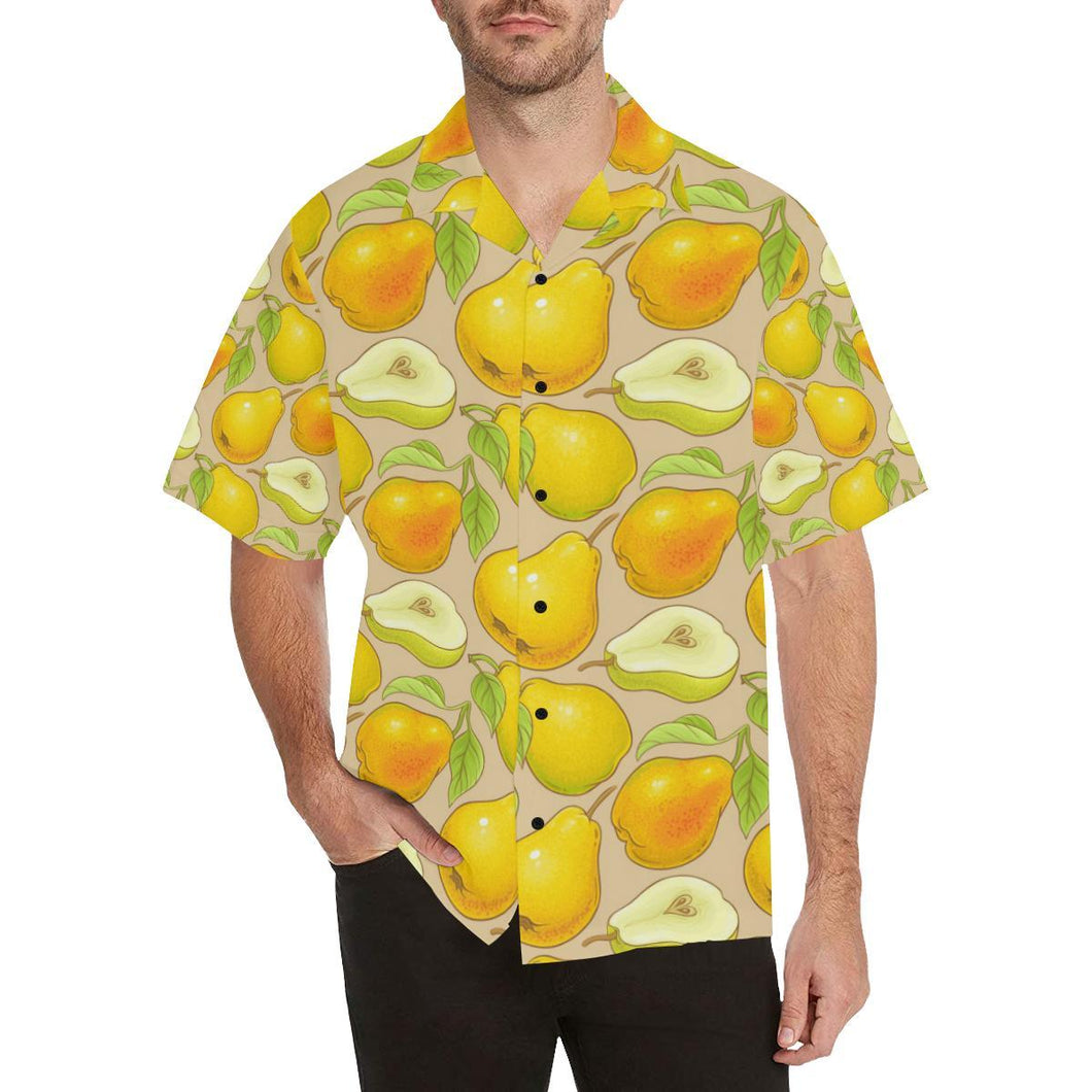 Pear Pattern Print Design PE05 Hawaiian Shirt-kunshirts.com