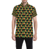 Pineapple Cute Print Design Pattern Button Up Shirt-kunshirts.com