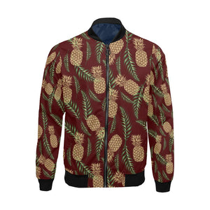 Pineapple Pattern Print Design PP013 Men Bomber Jacket-kunshirts.com