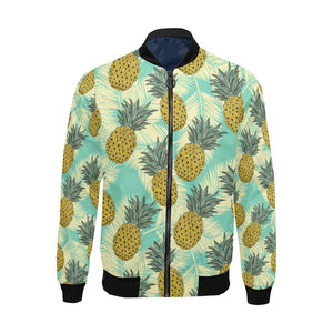 Pineapple Pattern Print Design PP03 Men Bomber Jacket-kunshirts.com