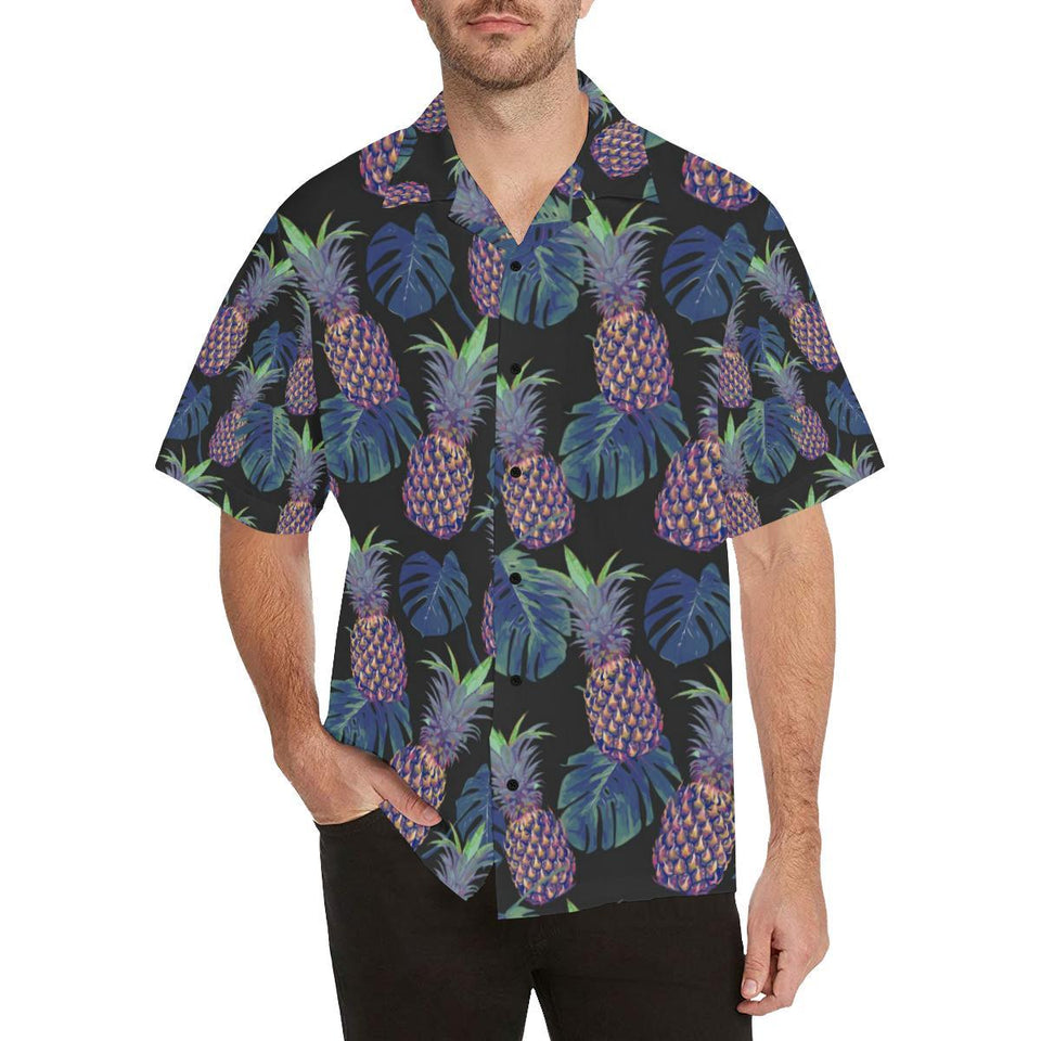 Pineapple Pattern Print Design PP04 Hawaiian Shirt-kunshirts.com