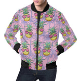 Pineapple Pattern Print Design PP06 Men Bomber Jacket-kunshirts.com