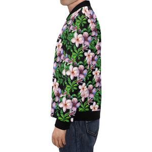Plumeria Pattern Print Design PM01 Men Bomber Jacket-kunshirts.com