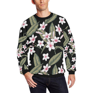 Plumeria Pattern Print Design PM021 Men Sweatshirt-kunshirts.com