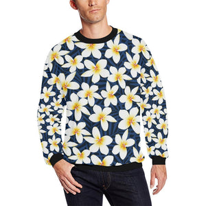 Plumeria Pattern Print Design PM026 Men Sweatshirt-kunshirts.com