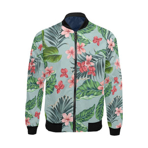 Plumeria Pattern Print Design PM027 Men Bomber Jacket-kunshirts.com