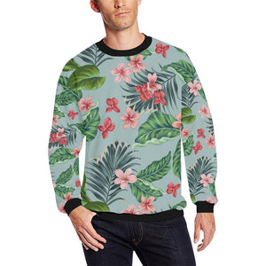 Plumeria Pattern Print Design PM027 Men Sweatshirt-kunshirts.com