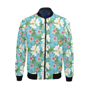 Plumeria Pattern Print Design PM028 Men Bomber Jacket-kunshirts.com
