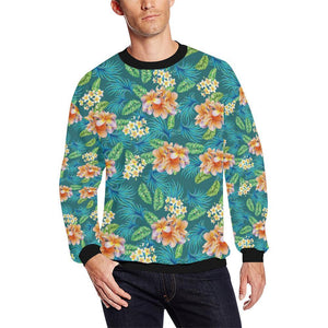 Plumeria Tropical Flower Design Print Men Sweatshirt-kunshirts.com