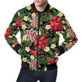 Poinsettia Pattern Print Design POT05 Men Bomber Jacket-kunshirts.com