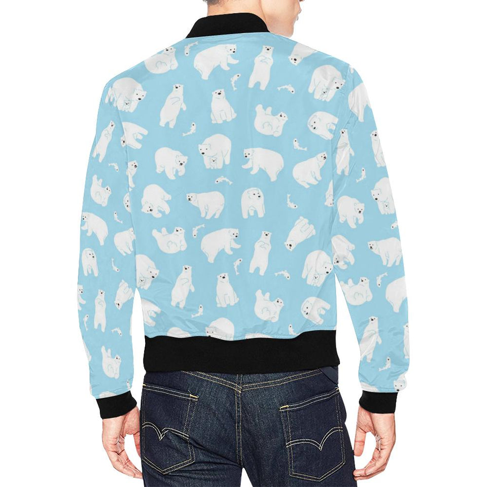 Polar Bear Pattern Print Design PB01 Men Bomber Jacket-kunshirts.com