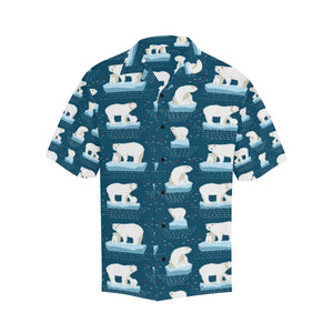 Polar Bear Pattern Print Design PB02 Hawaiian Shirt-kunshirts.com