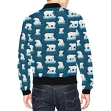 Polar Bear Pattern Print Design PB02 Men Bomber Jacket-kunshirts.com