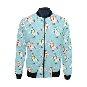 Polar Bear Pattern Print Design PB07 Men Bomber Jacket-kunshirts.com