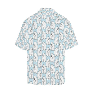Polar Bear Pattern Print Design PB08 Hawaiian Shirt-kunshirts.com