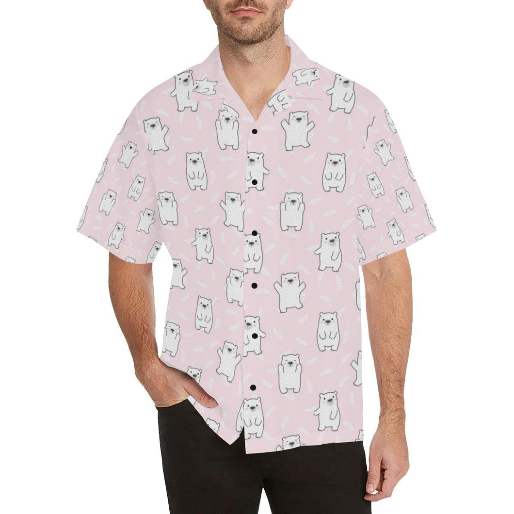 Polar Bear Pattern Print Design PB09 Hawaiian Shirt-kunshirts.com