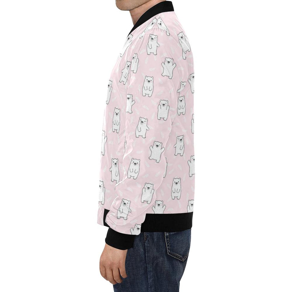 Polar Bear Pattern Print Design PB09 Men Bomber Jacket-kunshirts.com