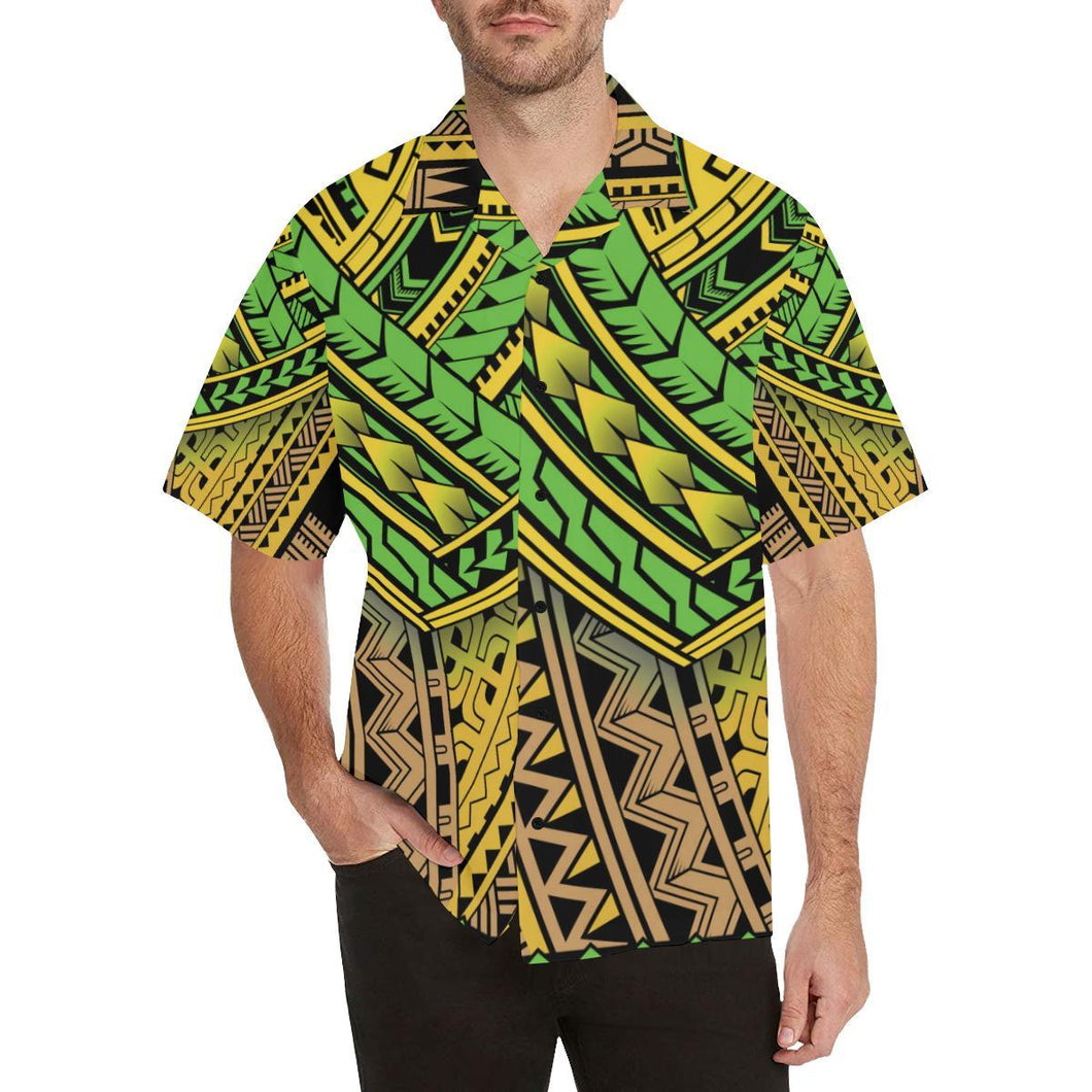 Polynesian Tribal Color Hawaiian Shirt-kunshirts.com