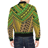 Polynesian Tribal Color Men Bomber Jacket-kunshirts.com