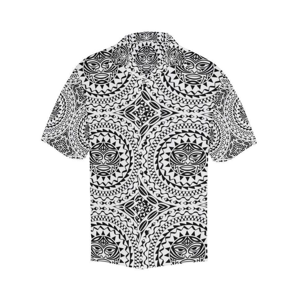 Polynesian Tribal Mask Hawaiian Shirt-kunshirts.com