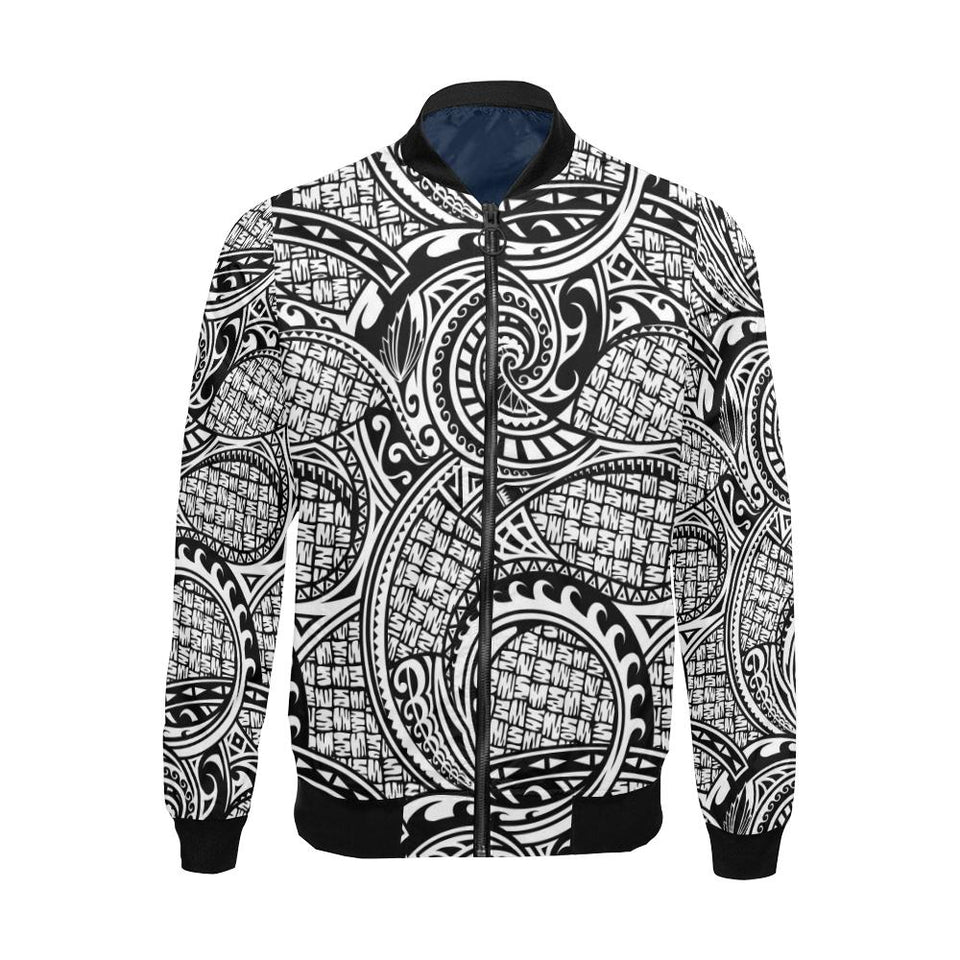 Polynesian Tribal Pattern Men Bomber Jacket-kunshirts.com