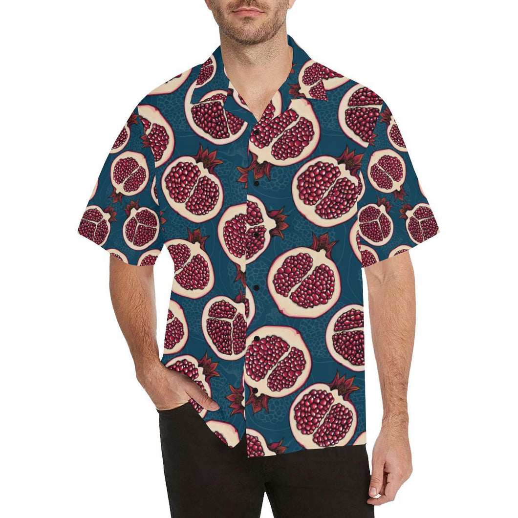 Pomegranate Pattern Print Design PG02 Hawaiian Shirt-kunshirts.com