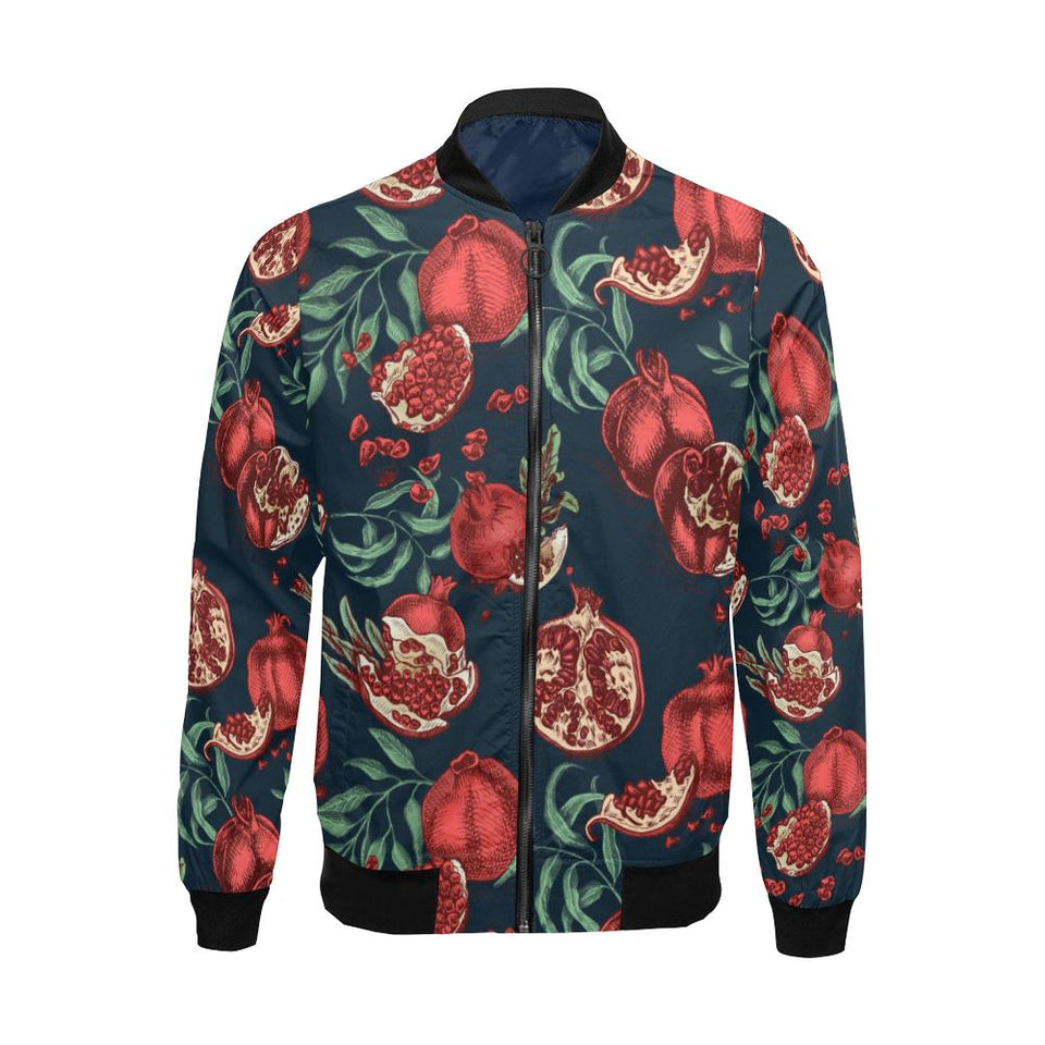 Pomegranate Pattern Print Design PG04 Men Bomber Jacket-kunshirts.com