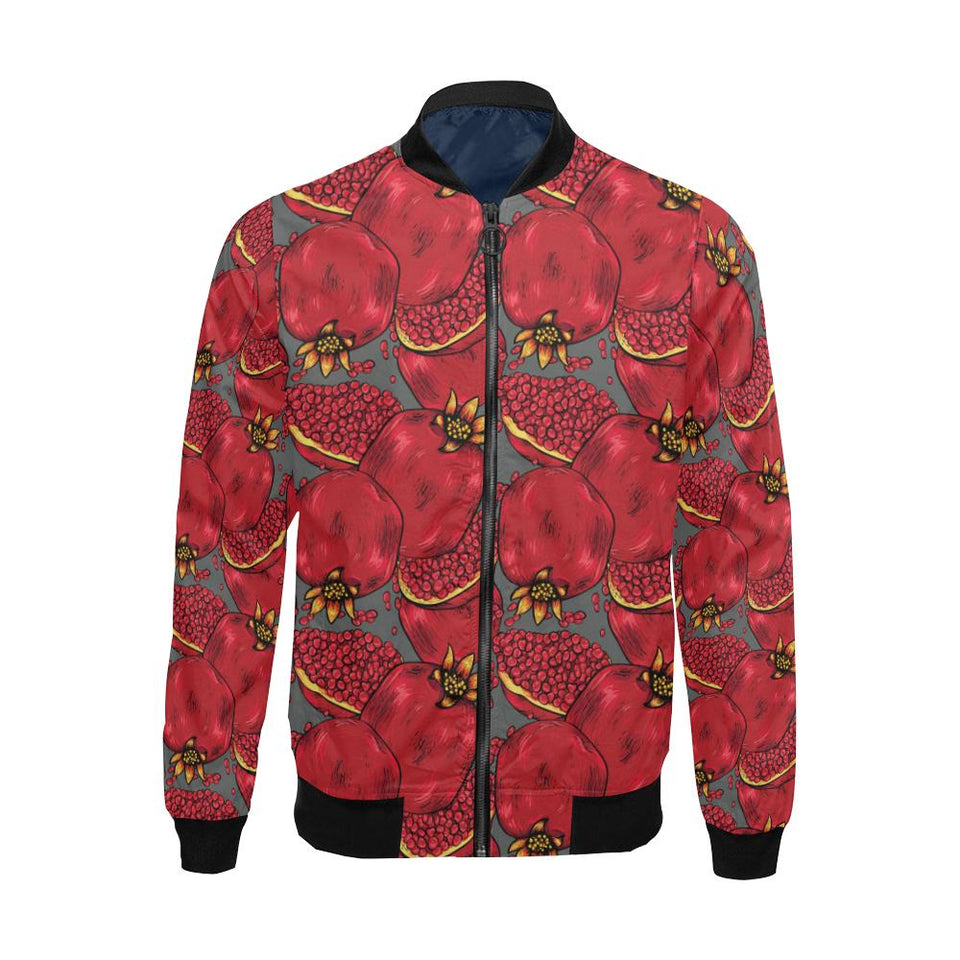 Pomegranate Pattern Print Design PG05 Men Bomber Jacket-kunshirts.com