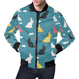 Rabbit Pattern Print Design RB014 Men Bomber Jacket-kunshirts.com