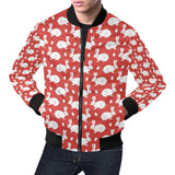 Rabbit Pattern Print Design RB017 Men Bomber Jacket-kunshirts.com