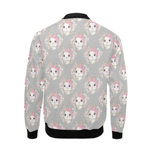Rabbit Pattern Print Design RB07 Men Bomber Jacket-kunshirts.com